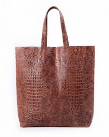 poolparty leather-city-croco-brown