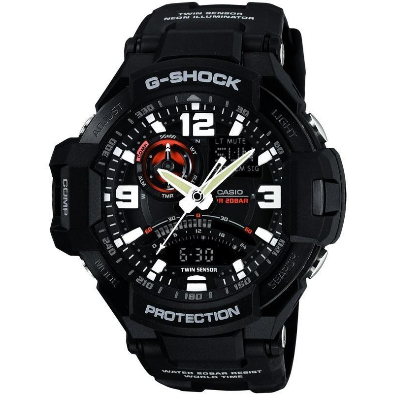 Купити чоловічий наручний годинник Casio GA-1000-1AER 9039c02a70433